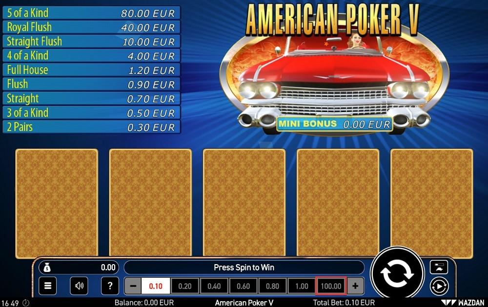 Betfirst Casino Automated Poker