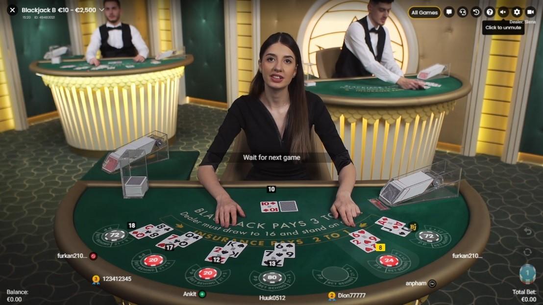 Boo Casino Live Blackjack