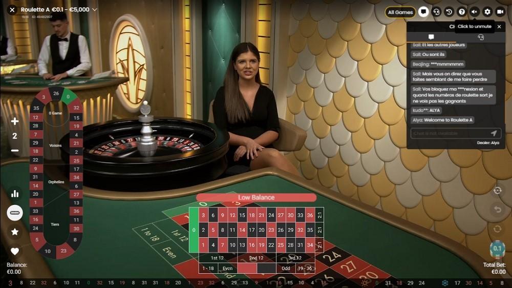 Boo Casino Live Roulette