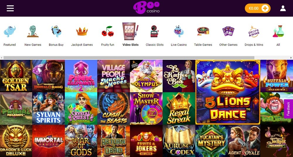 Boo Casino Members Area