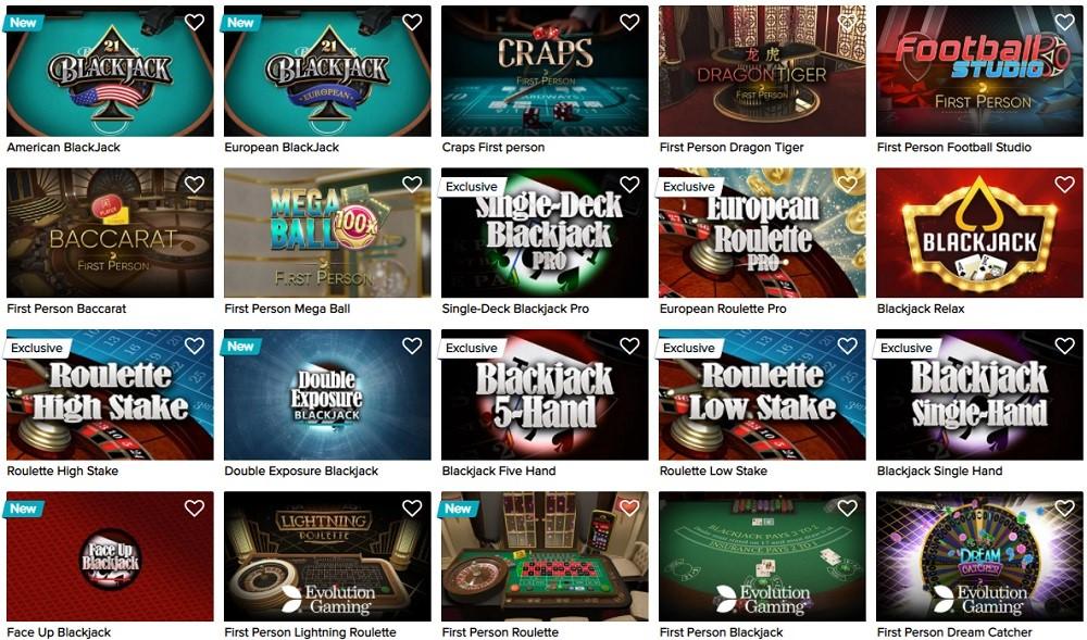 Casino Euro Automated Casino Table Games