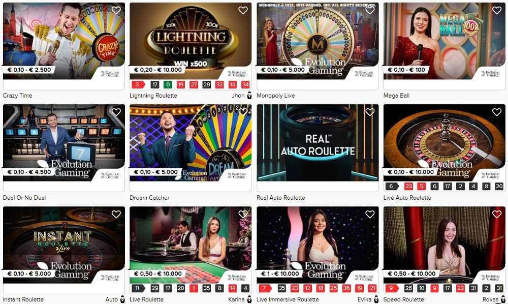 Casino Euro Live Casino Games
