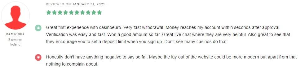 Casino Euro Player Review 2