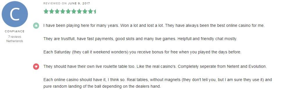 Casino Euro Player Review 5