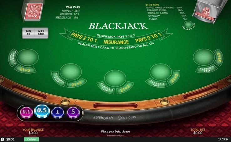 Casino Tropez Automated Blackjack