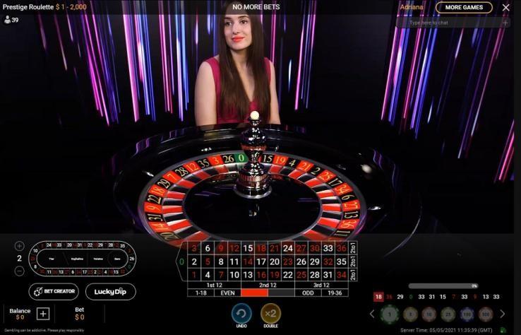Casino Tropez Live Roulette