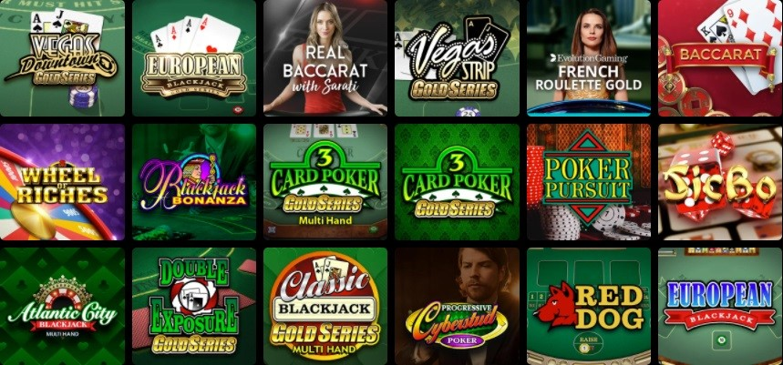 Gaming Club Casino Automated Casino Table Games