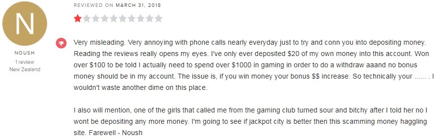 Gaming Club Casino Player Review 2