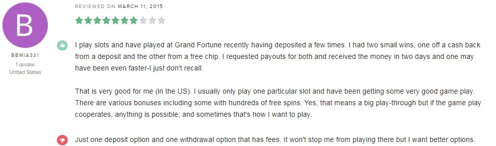 Grand Fortune Casino Player Review 5