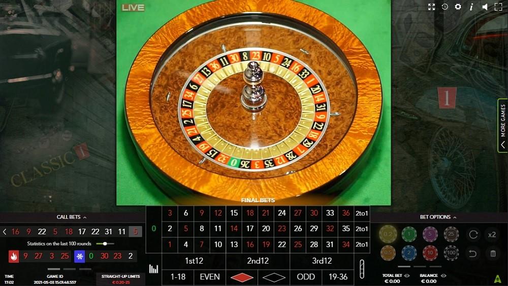 Joo Casino Automated Roulette