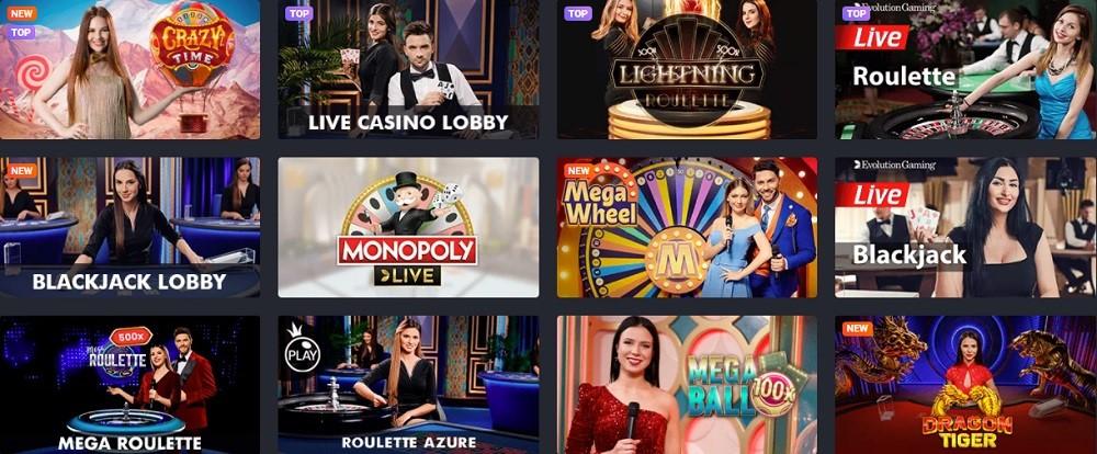Joo Casino Live Casino Games