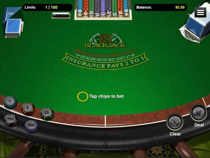 Lucky Red Casino Automated Blackjack