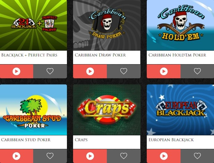 Lucky Red Casino Automated Casino Table Games