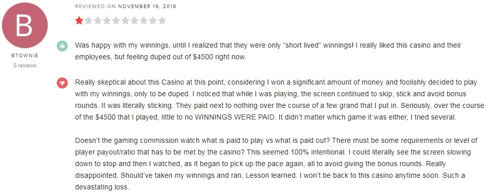 Lucky Red Casino Player Review