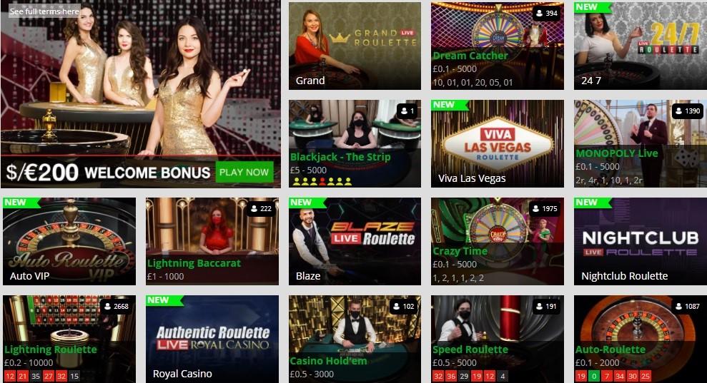 Magic Red Casino Live Casino Games