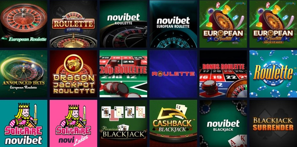Novibet Casino Automated Casino Table Games