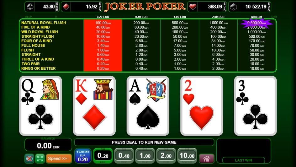 Novibet Casino Automated Poker