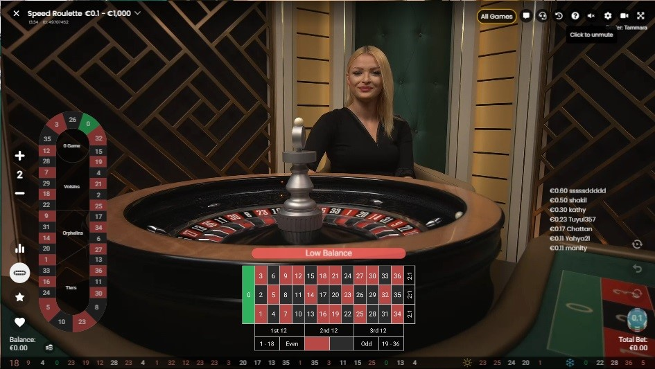 Novibet Casino Live Roulette