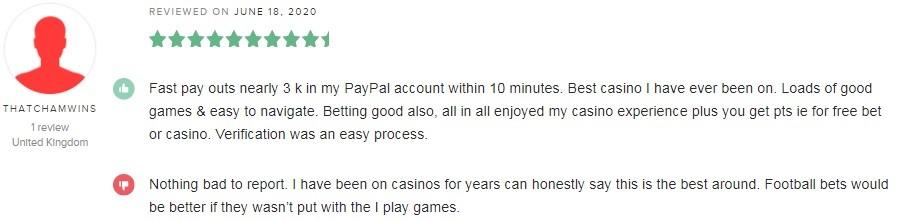 Novibet Casino Player Review 3