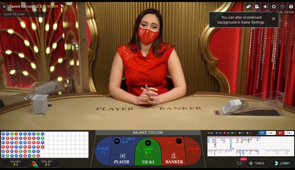 Paf Casino Live Baccarat