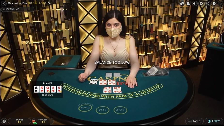Playamo Casino Live Poker