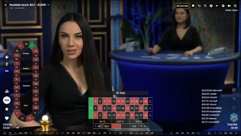 Playamo Casino Live Roulette
