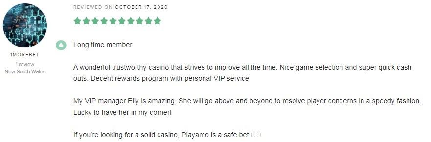 Playamo Casino Player Review 3
