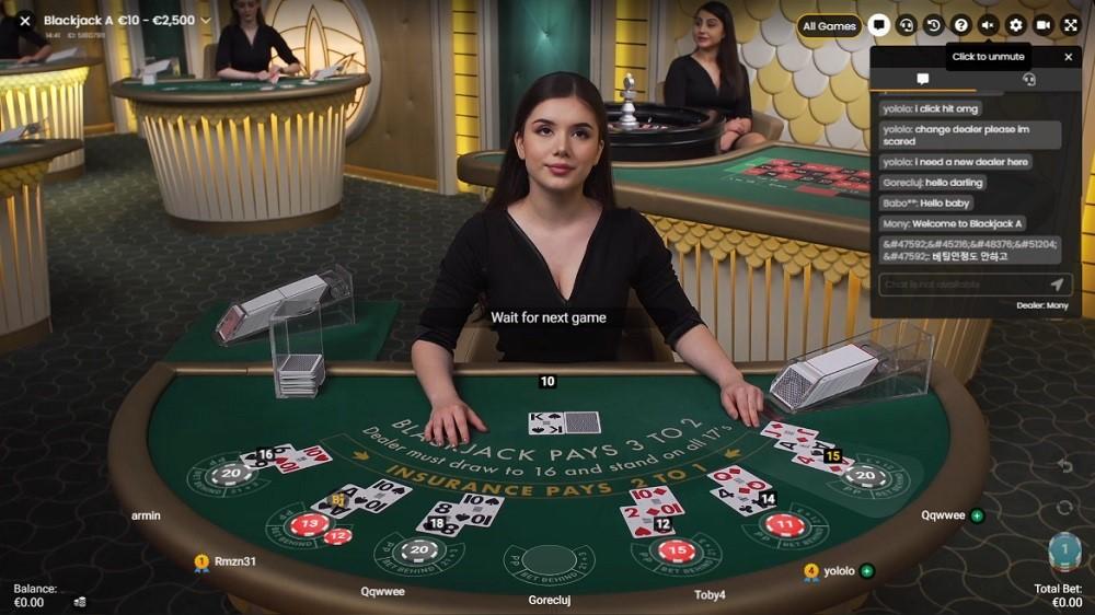 Royal Panda Casino Live Blackjack