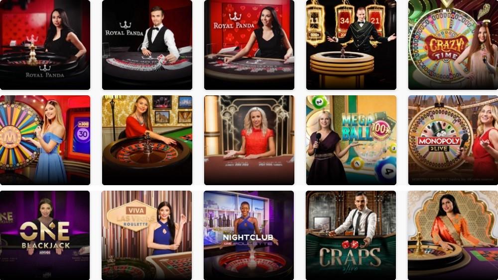Royal Panda Casino Live Casino Games
