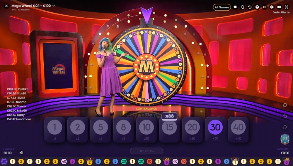 Royal Panda Casino Live Game Show