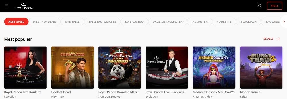 Royal Panda Casino Members Area