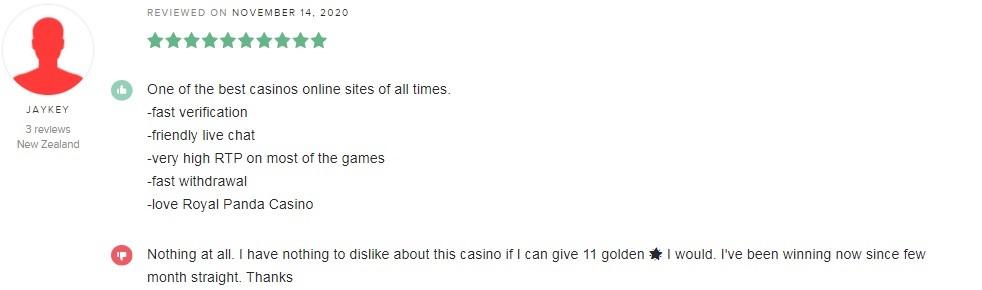 Royal Panda Casino Player Review 3