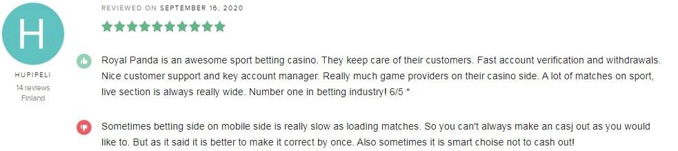 Royal Panda Casino Player Review 4