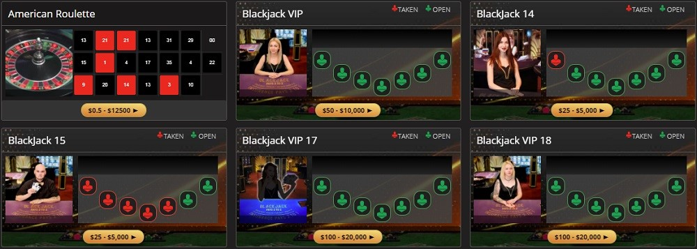 BetOnline Casino Live Casino Games