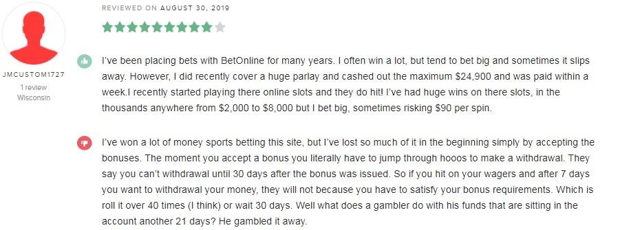 BetOnline Casino Player Review 5
