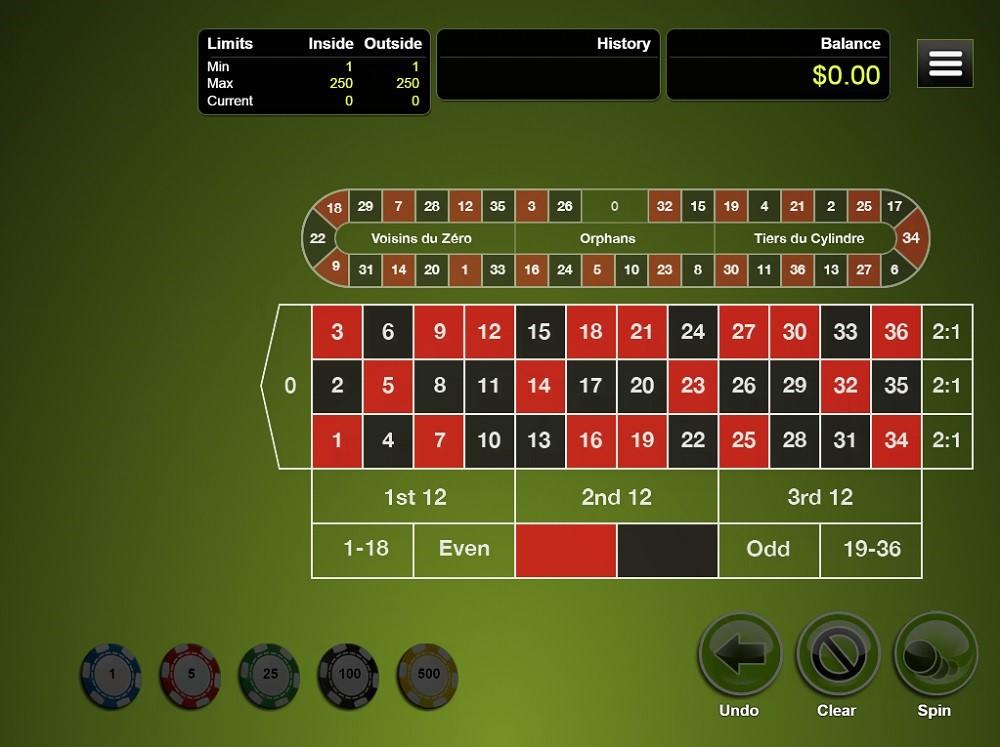 Bovegas Casino Automated Roulette