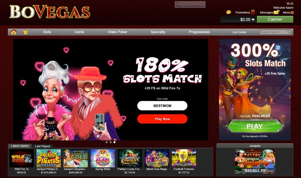 Bovegas Casino Members Area