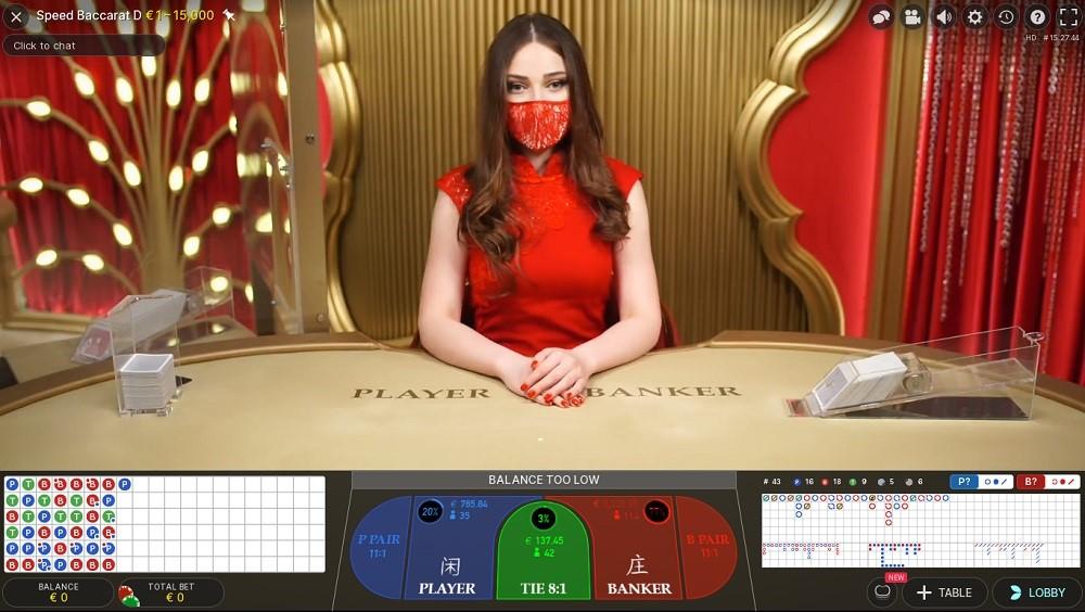 Casimba Casino Live Baccarat