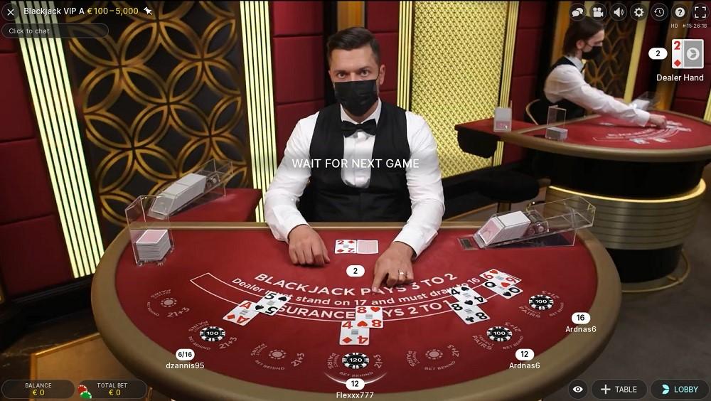 Casimba Casino Live Blackjack