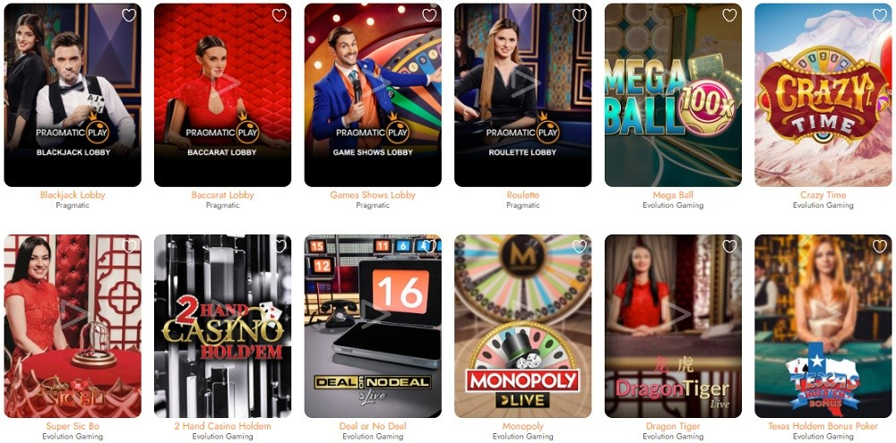 Casimba Casino Live Casino Games