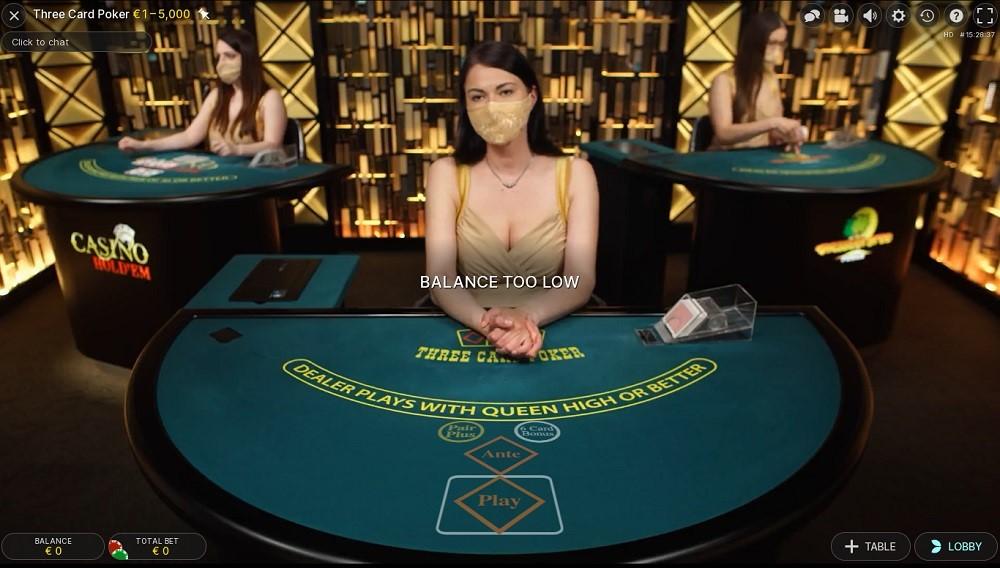 Casimba Casino Live Poker