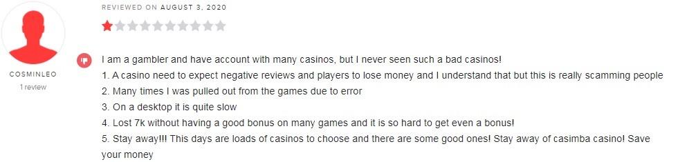 Casimba Casino Player Review