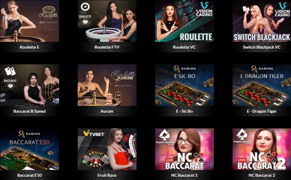 Casino Bordeaux Live Casino Games