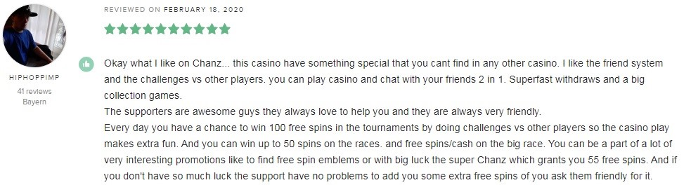 Chanz Casino Player Review 2