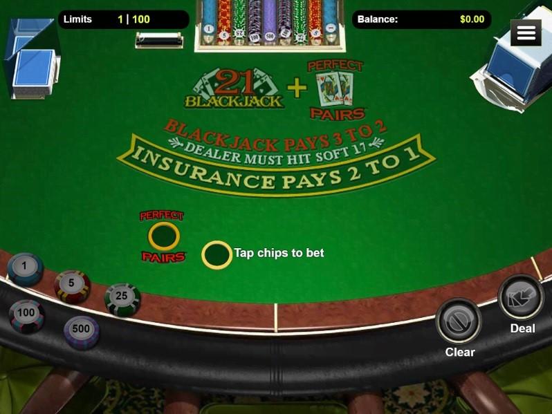 Club World Casino Automated Blackjack