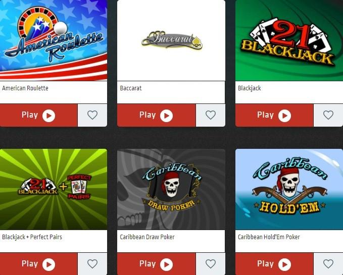 Club World Casino Automated Casino Table Games