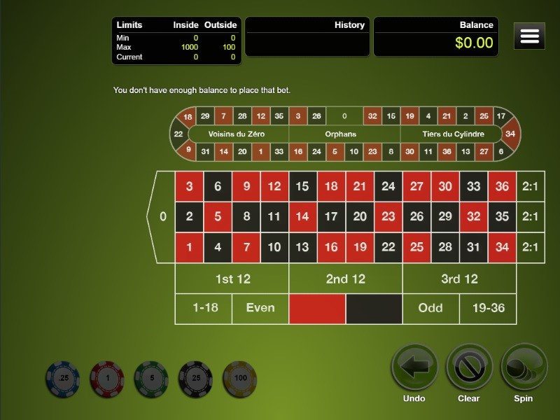 Club World Casino Automated Roulette