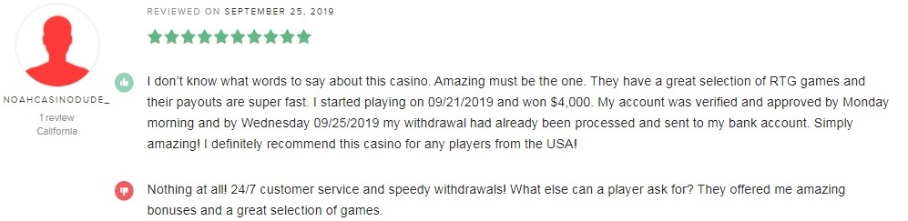 Club World Casino Player Review 4