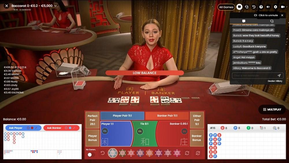 Dingo Casino Live Baccarat