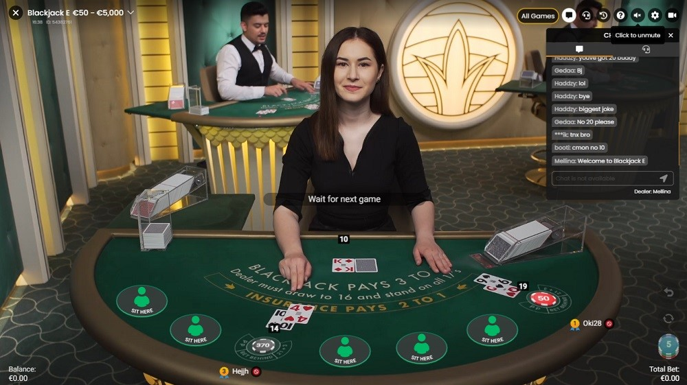 Dingo Casino Live Blackjack